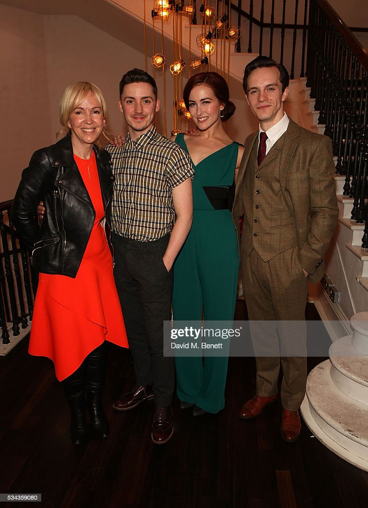 Sally Greene Drew Mconie Rachel Muldoon and Daniel Collins attend the press night after party for 'Jekyll Hyde' at The Old Vic Theatre on May 25 2016...