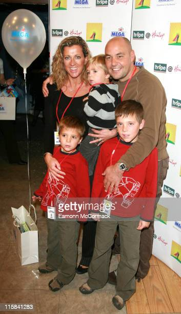 Sally Gunnell and Family during Hope at Hamleys Photocall at Hamleys in London Great Britain