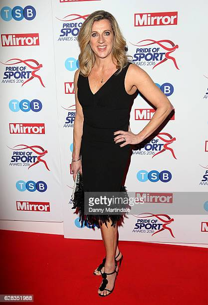 Sally Gunnell attends the Daily Mirror's Pride of Sport awards at The Grosvenor House Hotel on December 7 2016 in London England