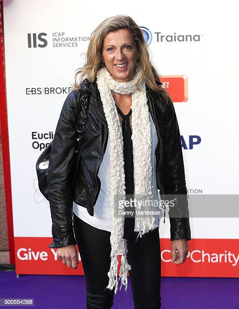 Sally Gunnell attends the ICAP charity day at ICAP on December 9 2015 in London England