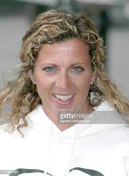 Sally Gunnell during the 2007 Flora London Marathon Press Conference at the Tower Thistle Hotel London on April 20 2007