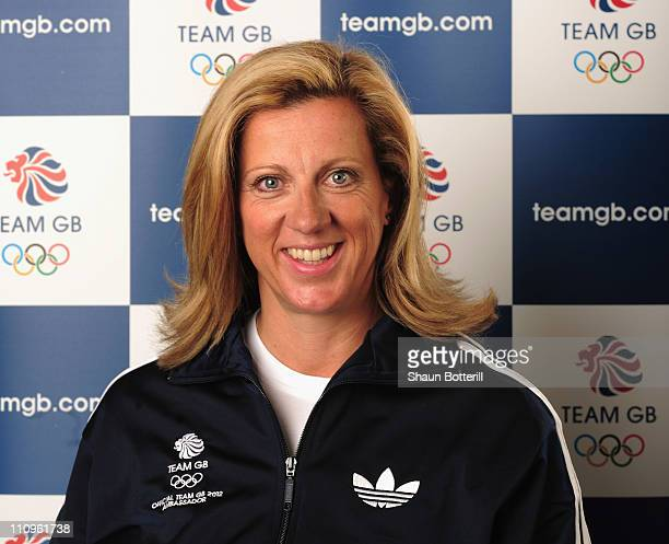 Sally Gunnell Team GB 2012 Amassador poses for a portrait on March 28 2011 in London England