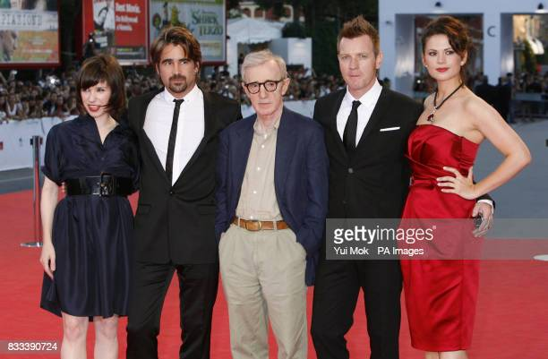 Sally Hawkins Colin Farrell Woody Allen Ewan McGregor and Hayley Atwell arrive for the premiere of 'Cassandra's Dream' during the Venice Film...