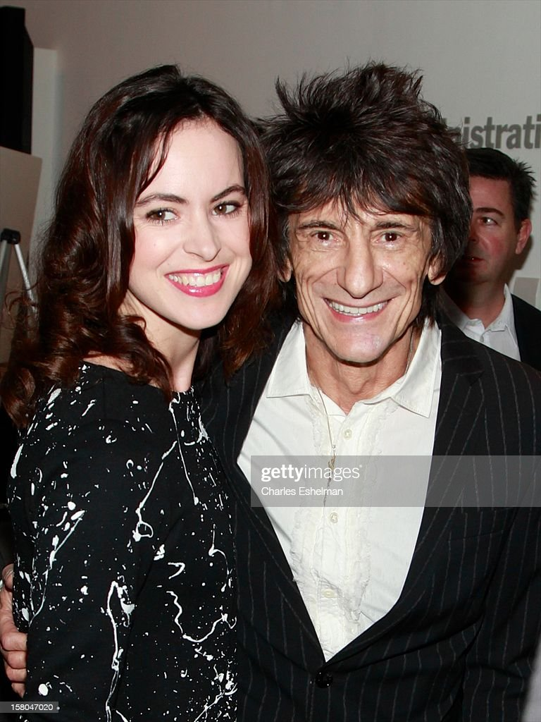 Sally Humphreys and musician Ronnie Wood attends The Cinema Society With Chrysler & Bally Host The Premiere Of 'Stand Up Guys' at The Museum of Modern Art on December 9, 2012 in New York City.