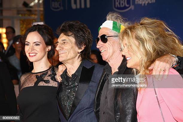 Sally Humphreys musician Ronnie Wood musician Keith Richards and Patti Hansen attend the 'The Rolling Stones Ole Ole Ole A Trip Across Latin America'...