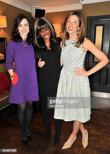 Sally HumphreysJune SarpongHeather Kerzner attend the Madderson London Spring/Summer 2014 womenswear collection launch party at Beaufort House on...