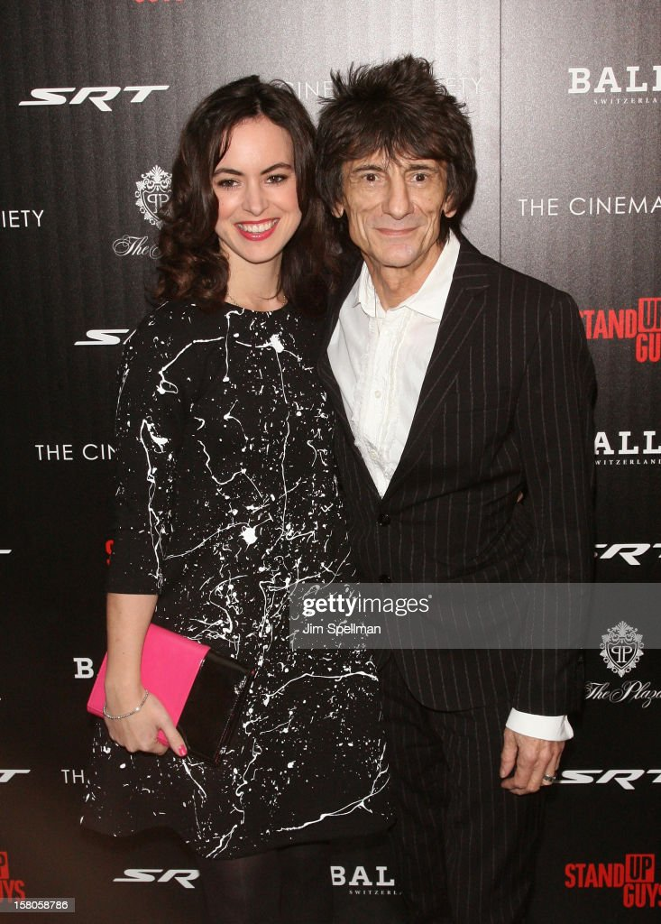 Sally Humphryes and Ronnie Wood attend The Cinema Society With Chrysler & Bally premiere of 'Stand Up Guys' at Museum of Modern Art on December 9, 2012 in New York City.