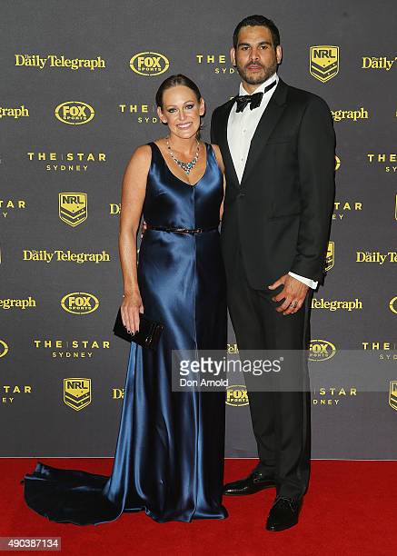 Sally Inglis and Greg Inglis arrive at the 2015 Dally M Awards at Star City on September 28 2015 in Sydney Australia