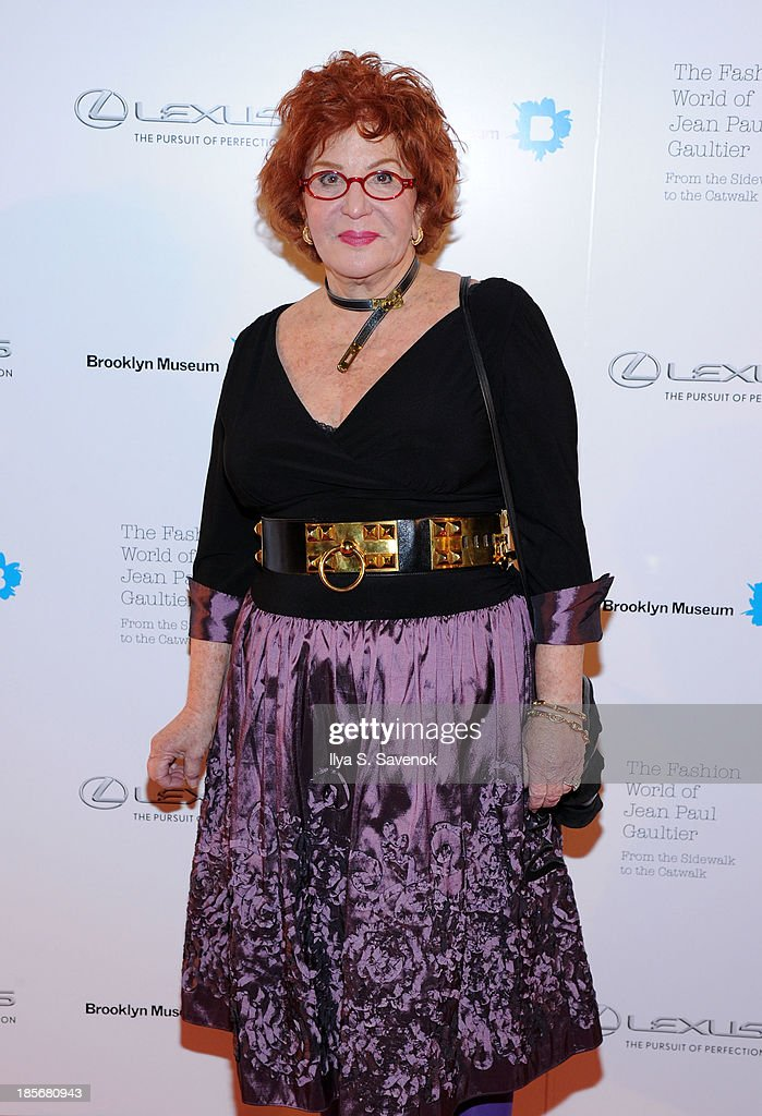 Sally Jesse Raphael attends the VIP reception and viewing for The Fashion World of Jean Paul Gaultier: From the Sidewalk to the Catwalk at the Brooklyn Museum on October 23, 2013 in the Brooklyn borough of New York City.
