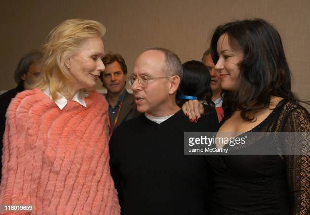 Sally Kellerman Bob Balaban and Jennifer Tilly during 2004 12th Annual Hamptons International Film Festival Golden Starfish Awards Greenroom at Guild...