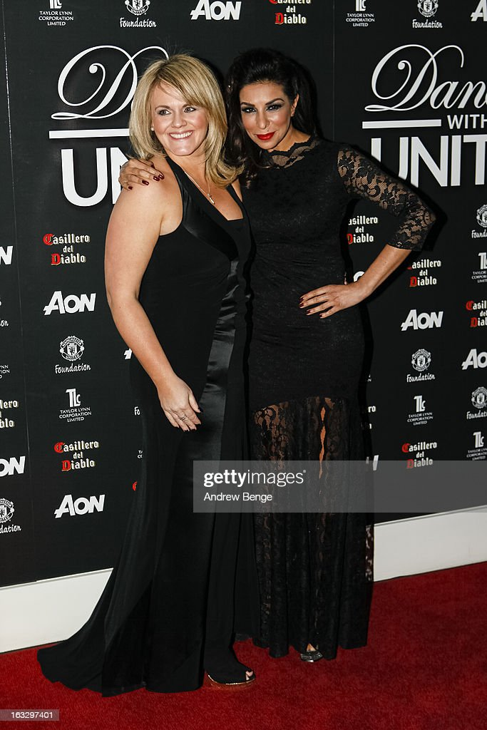 Sally Lindsay and Shobna Gulati attend the Manchester United Foundation's Dancing With United charity fundraiser at Lancashire County Cricket Club on March 7, 2013 in Manchester, England.