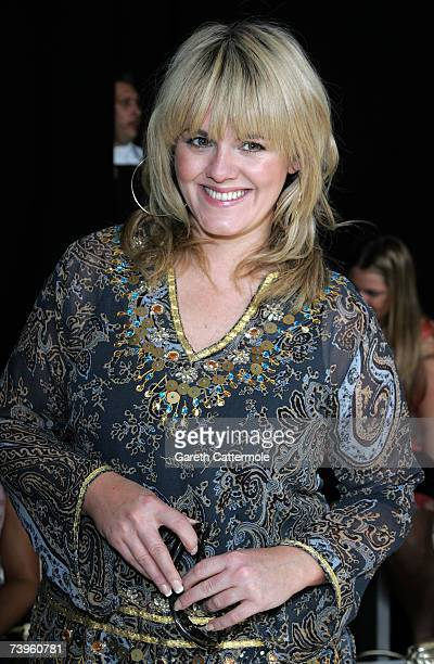 Sally Lindsay arrives at the Tu At Sainsburys fashion show on April 24 2007 in London The show is a debut fashion show presenting the supermarket's...