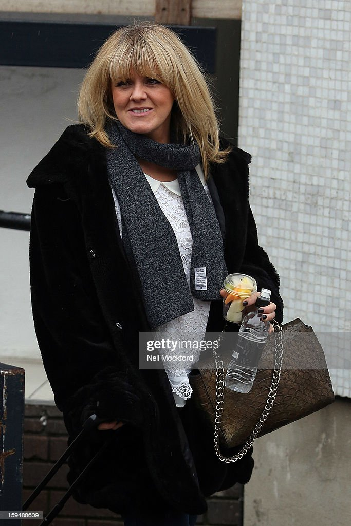 <a gi-track='captionPersonalityLinkClicked' href=/galleries/search?phrase=Sally+Lindsay&family=editorial&specificpeople=226630 ng-click='$event.stopPropagation()'>Sally Lindsay</a> seen leaving Loose Women at the ITV Studios on January 14, 2013 in London, England.