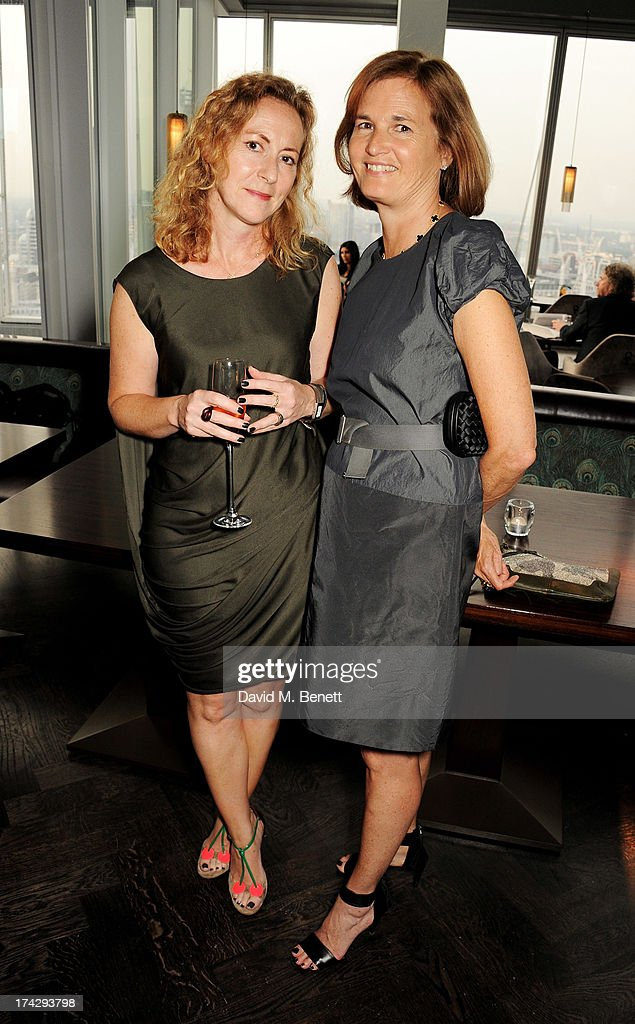 Sally Mackereth (L) and Catherine Pawson attend the London Design Festival dinner hosted by Ben Evans at Aqua Shard on July 23, 2013 in London, England.