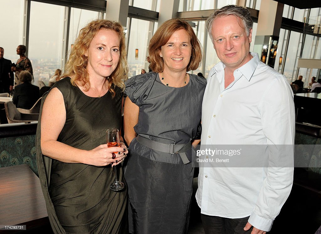 Sally Mackereth, Catherine Pawson and Ben Evans attend the London Design Festival dinner hosted by Ben Evans at Aqua Shard on July 23, 2013 in London, England.