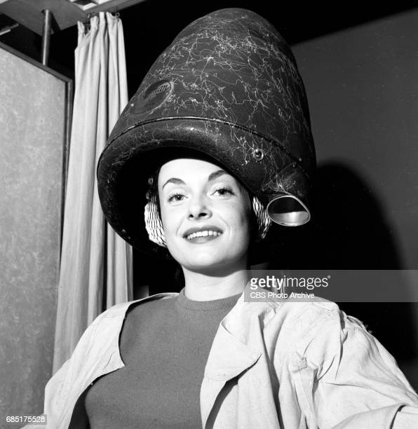 'Sally Norman Space Nurse an undeveloped television pilot Actress Dorothy Jolliffe gets a special hair cut and treatment for her role Image dated...