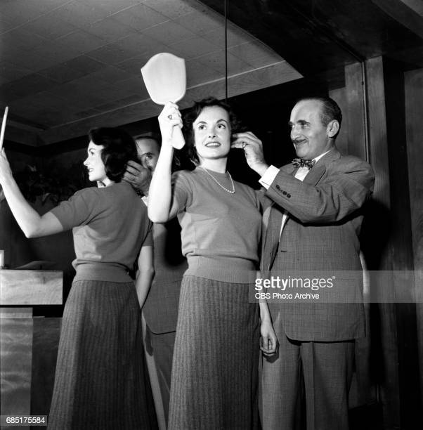'Sally Norman Space Nurse an undeveloped television pilot Actress Dorothy Jolliffe gets a special hair cut and treatment for her role Makeup artist...