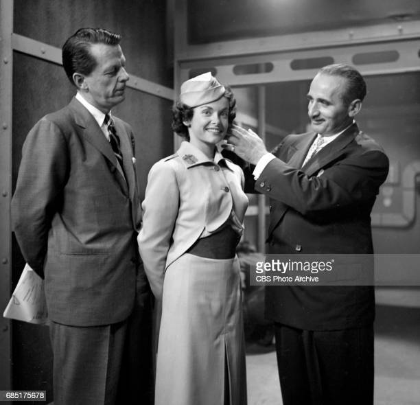 'Sally Norman Space Nurse an undeveloped television pilot Actress Dorothy Jolliffe plays Sally Norman Makeup artist Eddie Senz is on the right This...