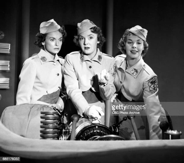 'Sally Norman Space Nurse an undeveloped television pilot From left Dorothy Jolliffe plays Sally Norman Beverly Roberts and unidentified actress This...