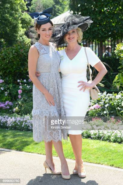 Sally Nugent and Carol Kirkwood attend day 3 of Royal Ascot at Ascot Racecourse on June 22 2017 in Ascot England