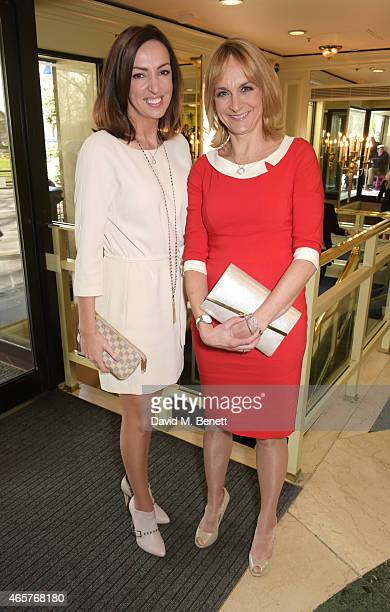 Sally Nugent and Louise Minchin attend the TRIC Television and Radio Industries Club Awards at The Grosvenor House Hotel on March 10 2015 in London...