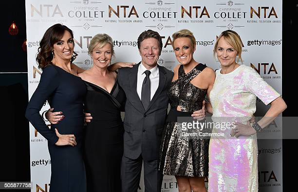 Sally Nugent Carol Kirkwood Charlie Stayt Stephanie McGovern and Louise Minchin attend the 21st National Television Awards at The O2 Arena on January...