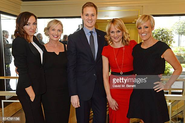 Sally Nugent Carol Kirkwood Dan Walker Louise Minchin and Stephanie McGovern of BBC Breakfast attend the TRIC Awards at Grosvenor House Hotel at The...