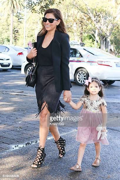 Sally Obermeder and daughter Annabelle attend National Prevention Week Breakfast held at Catalina Restaurant on April 05 2016 in Sydney Australia