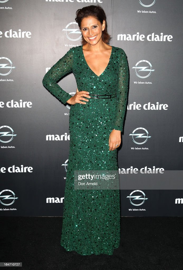 Sally Obermeder arrives at the 2013 Prix de Marie Claire Awards at the Star on March 27, 2013 in Sydney, Australia.