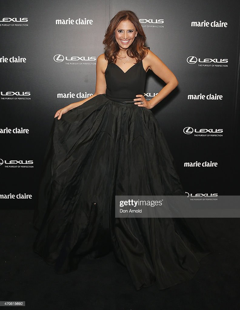 Sally Obermeder arrives at the 2015 Prix de Marie Claire Awards at Fox Studios on April 21 2015 in Sydney Australia