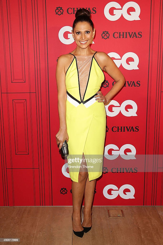 Sally Obermeder arrives at the GQ Men of the Year awards at the Ivy Ballroom on November 19, 2013 in Sydney, Australia.