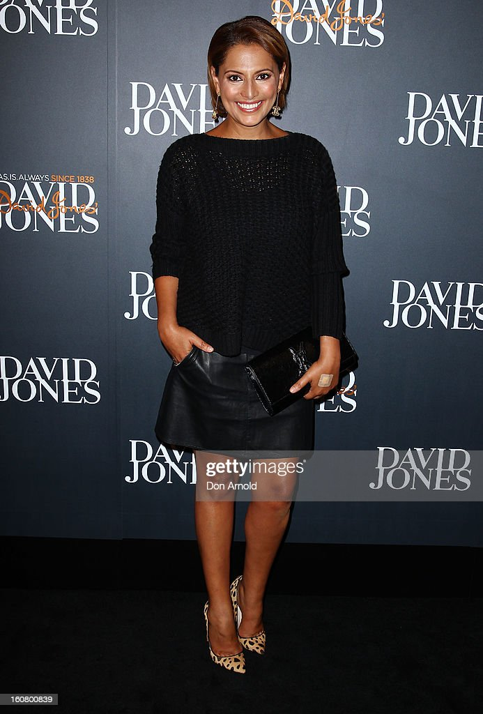 Sally Obermeder arrives for the David Jones A/W 2013 Season Launch at David Jones Castlereagh Street on February 6, 2013 in Sydney, Australia.