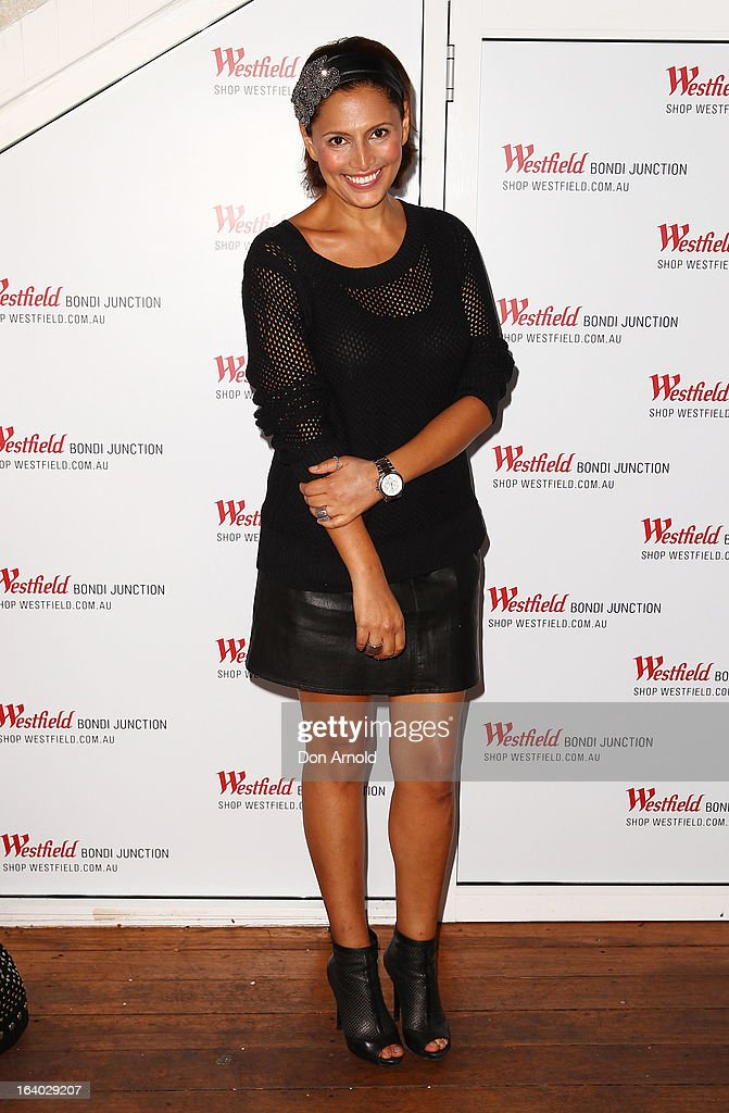 Sally Obermeder poses at the Westfield Autumn/Winter 2013 launch at Pelicano Bar on March 19, 2013 in Sydney, Australia.