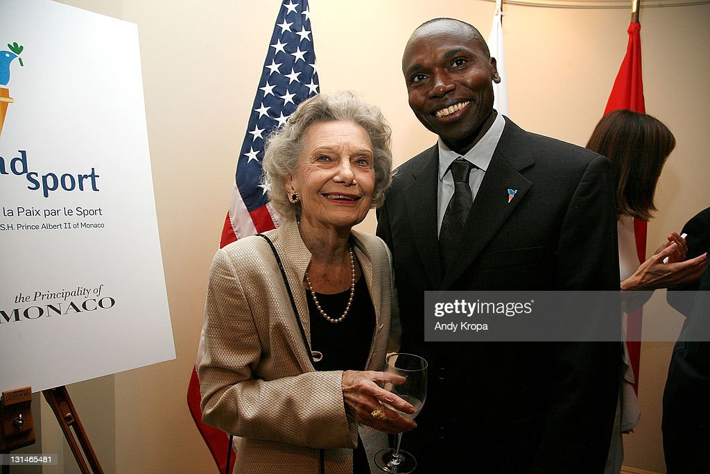 Sally Parrish Richardson and <a gi-track='captionPersonalityLinkClicked' href=/galleries/search?phrase=Wilson+Kipketer&family=editorial&specificpeople=162807 ng-click='$event.stopPropagation()'>Wilson Kipketer</a> attend a hosted VIP reception by Consul General of Monaco in New York, Maguy Maccario, for Champions of Peace and special guests from the Monaco-based Peace & Sports attending their first ING New York City Marathon on November 4, 2011 in New York City.