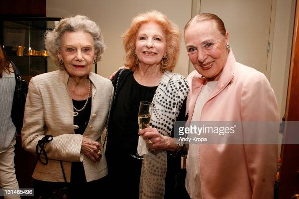 Sally Parrish Richardson Judy Balaban Quine and Rita Gam attend a hosted VIP reception by Consul General of Monaco in New York Maguy Maccario for...