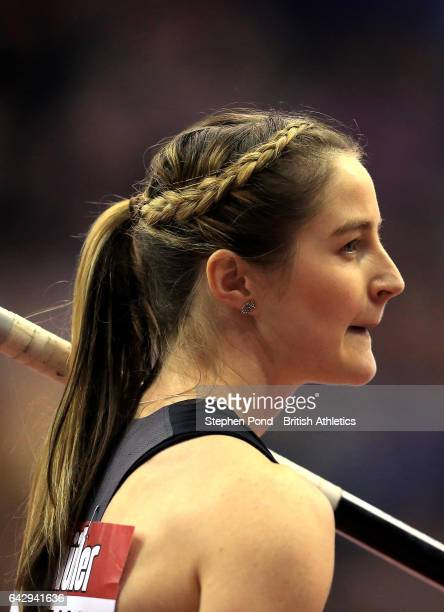 Sally Peake of Great Britain competes in the womens pole vault during the Muller Indoor Grand Prix 2017 at the Barclaycard Arena on February 18 2017...