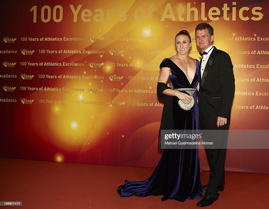 <a gi-track='captionPersonalityLinkClicked' href=/galleries/search?phrase=Sally+Pearson+-+Athlete&family=editorial&specificpeople=200724 ng-click='$event.stopPropagation()'>Sally Pearson</a> of Australia and husband Kieran attend the IAAF Centenary Gala at the Museo Nacional d'Art de Catalunya on November 24, 2012 in Barcelona, Spain.