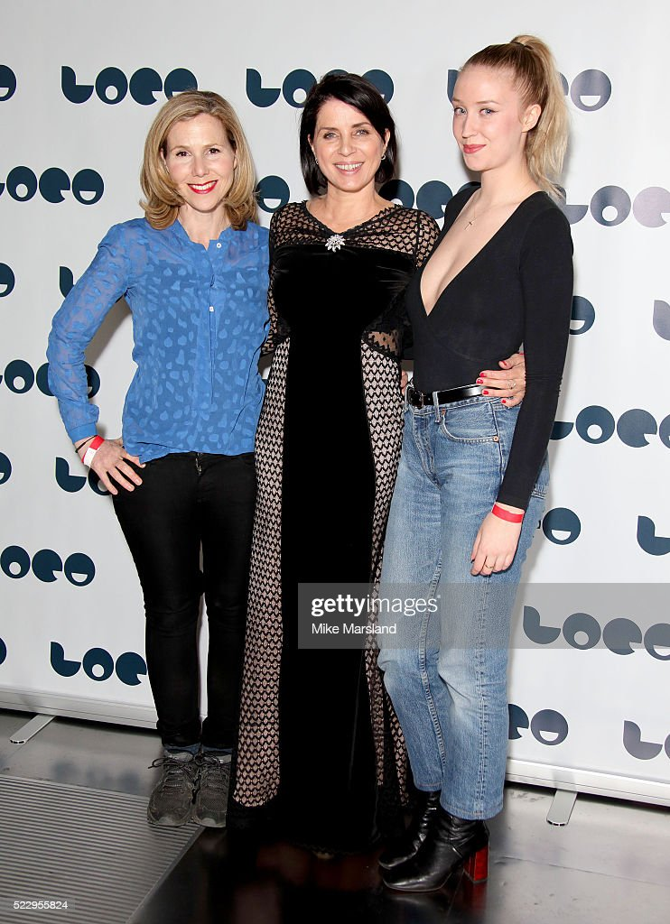 Sally Phillips, Sadie Frost and Lily Loveless attend the UK film premiere of 'Set The Thames On Fire' - on April 21, 2016 in London, United Kingdom.