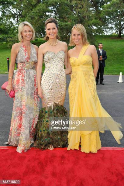 Sally Polak Cosby George and Audrey Schaus attend THE CONSERVATORY BALL at The New York Botanical Garden on June 3 2010 in New York City