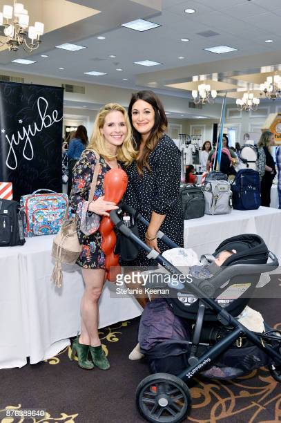 Sally Pressman and Angelique Cabral attend Diono Presents Inaugural A Day of Thanks and Giving Event at The Beverly Hilton Hotel on November 19 2017...