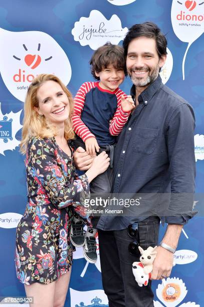 Sally Pressman and David Rogers attend Diono Presents Inaugural A Day of Thanks and Giving Event at The Beverly Hilton Hotel on November 19 2017 in...
