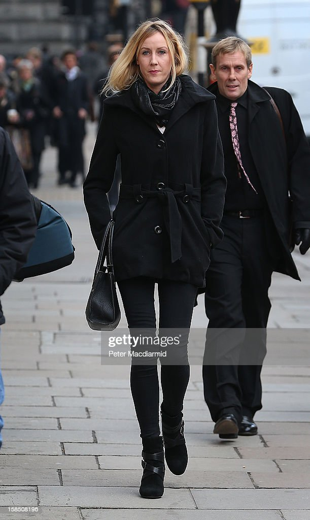 Sally Roberts arrives at The High Court on December 18, 2012 in London, England. Further legal arguments are to be heard today as Ms Roberts fights a ruling on whether a local health authority should give her seven-year-old Neon cancer treatment for a brain tumour against her wishes.