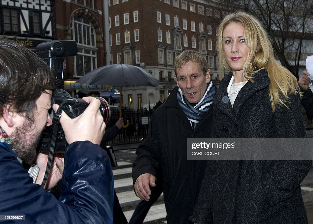 Sally Roberts, the mother of seven-year-old cancer patient Neon, arrives at the High Court in central London on December 20, 2012 for a hearing in the legal dispute over Neon's cancer treatment. A judge ruled on december 18 that Neon could undergo more surgery despite his mother's opposition, which had led her to run away with her son earlier this month.