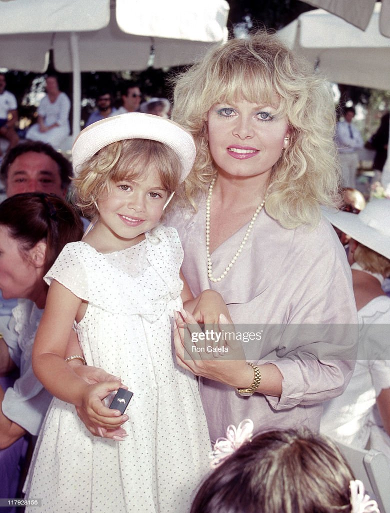 Sally Struthers and Daughter Samantha Rader during Celebrity Polo Matches - August 28, 1983 at Will Rogers State Park in Los Angeles, California, United States.