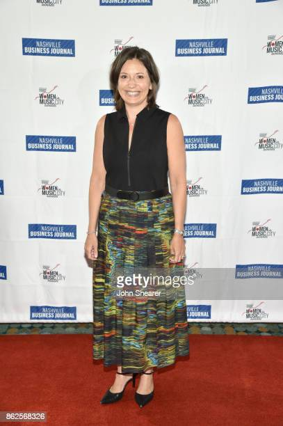 Sally Williams of Opry Entertainment Group arrives at the 2017 Nashville Business Journal Women In Music City on October 17 2017 in Nashville...