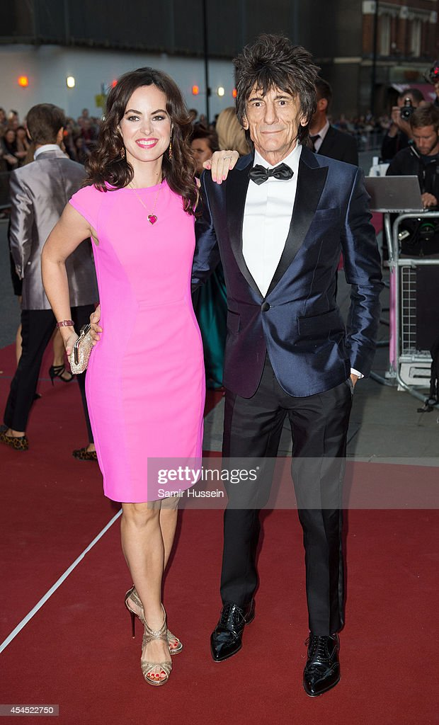Sally Wood and Ronnie Wood attend the GQ Men of the Year awards at The Royal Opera House on September 2, 2014 in London, England.