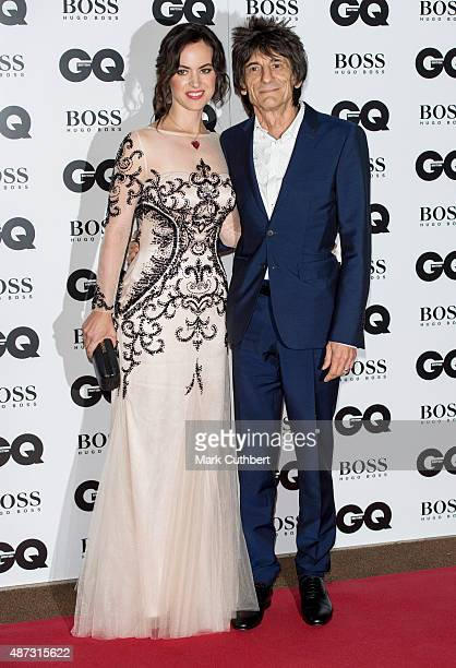 Sally Wood and Ronnie Wood attend the GQ Men of the Year Awards at The Royal Opera House on September 8 2015 in London England