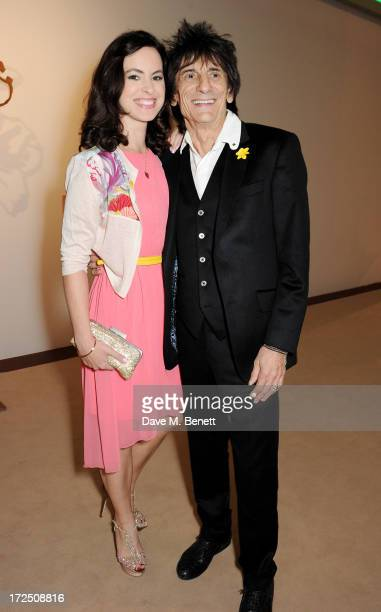 Sally Wood and Ronnie Wood attend The Masterpiece Midsummer Party in aid of Marie Curie Cancer Care hosted by Heather Kerzner at The Royal Hospital...