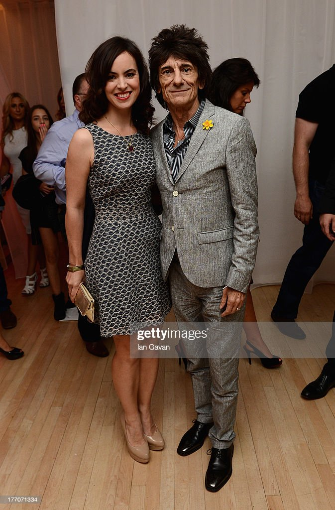 Sally Wood and Ronnie Wood attend the 'One Direction This Is Us' world premiere after party on August 20, 2013 in London, England.