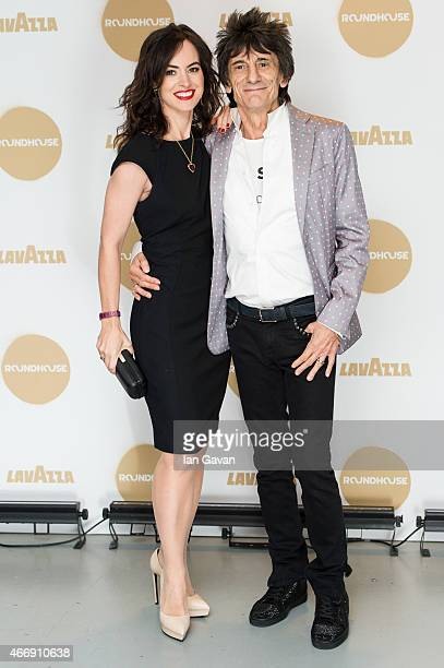 Sally Wood and Ronnie Wood attend The Roundhouse Gala at The Roundhouse on March 19 2015 in London England
